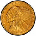1915 Indian Head $5 Half Eagle