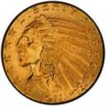 1911 Indian Head $5 Half Eagle