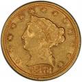 1872 Liberty Head $2.50 Gold Quarter Eagle Coin
