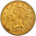 1866 Liberty Head $10 Gold Eagle
