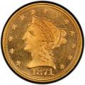 1871 Liberty Head $2.50 Gold Quarter Eagle Coin