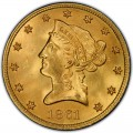 1861 Liberty Head $10 Gold Eagle