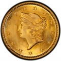 1850 Liberty Head Gold $1 Coin