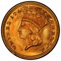 1871 Large Head Indian Princess Gold Dollar