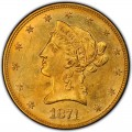 1874 Liberty Head $10 Gold Eagle