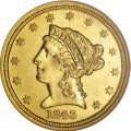 1843 Liberty Head $2.50 Gold Quarter Eagle Coin