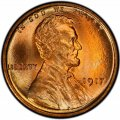1917 Lincoln Wheat Pennies