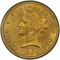 1854 Liberty Head $10 Gold Eagle