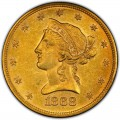1868 Liberty Head $10 Gold Eagle