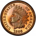 1866 Indian Head Pennies