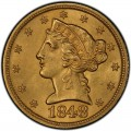 1848 Liberty Head Half Eagles