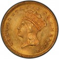 1865 Large Head Indian Princess Gold Dollar