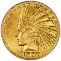 1907 Indian Head Gold $10 Eagle