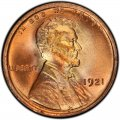 1921 Lincoln Wheat Pennies