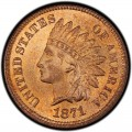 1871 Indian Head Pennies