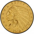 1912 Indian Head $2.50 Quarter Eagle