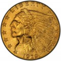 1929 Indian Head $2.50 Quarter Eagle