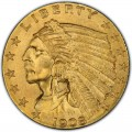1908 Indian Head $2.50 Quarter Eagle
