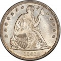 1841 Seated Liberty Silver Dollar