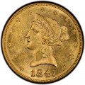 1847 Liberty Head $10 Gold Eagle