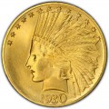 1930 Indian Head Gold $10 Eagle