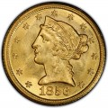 1856 Liberty Head Half Eagles