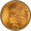 1912 Indian Head Gold $10 Eagle