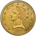 1857 Liberty Head $10 Gold Eagle