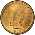 1916 Indian Head Gold $10 Eagle