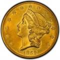 1852 Liberty Head Double Eagle