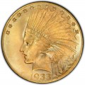 1933 Indian Head Gold $10 Eagle