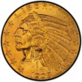 1908 Indian Head $5 Half Eagle