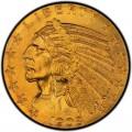 1908 Indian Head $5 Half Eagle
