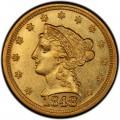 1848 Liberty Head $2.50 Gold Quarter Eagle Coin
