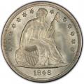 1846 Seated Liberty Silver Dollar