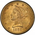 1884 Liberty Head $10 Gold Eagle