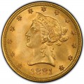 1881 Liberty Head $10 Gold Eagle