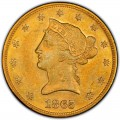 1865 Liberty Head $10 Gold Eagle
