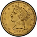 1855 Liberty Head Half Eagles