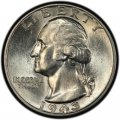 1943 Washington Quarter Value