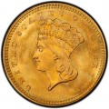1863 Large Head Indian Princess Gold Dollar