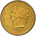 1875 Liberty Head $10 Gold Eagle
