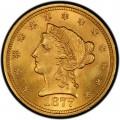 1877 Liberty Head $2.50 Gold Quarter Eagle Coin