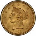 1852 Liberty Head $2.50 Gold Quarter Eagle Coin