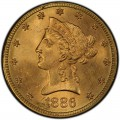 1886 Liberty Head $10 Gold Eagle
