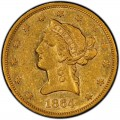 1864 Liberty Head $10 Gold Eagle
