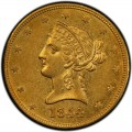 1844 Liberty Head $10 Gold Eagle