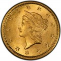 1853 Liberty Head Gold $1 Coin