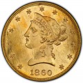 1860 Liberty Head $10 Gold Eagle