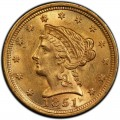 1851 Liberty Head $2.50 Gold Quarter Eagle Coin